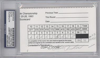 1900-Present Signed Official Scorecards - [Base] #GALG - George Archer, Larry Gilbert [PSA/DNA Certified Auto]
