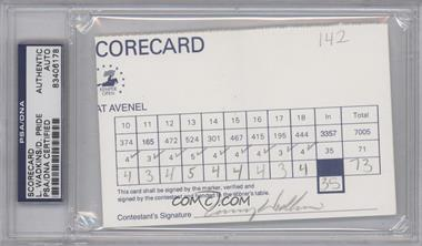 1900-Present Signed Official Scorecards - [Base] #LWDP - Lanny Wadkins, Dicky Pride [PSA/DNA Certified Auto]