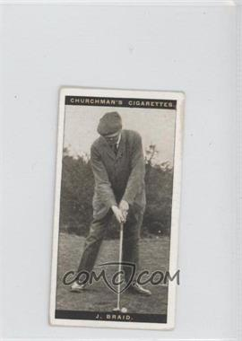 1927 Churchman's Famous Golfers - Tobacco [Base] - Small #6 - James Braid