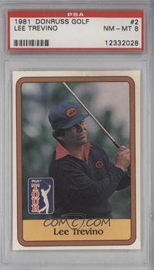 1981 Donruss Golf Stars - [Base] #2 - Lee Trevino [PSA8]