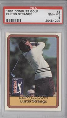 1981 Donruss Golf Stars - [Base] #3 - Curtis Strange [PSA8]