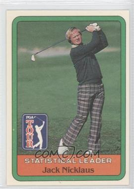 1981 Donruss Golf Stars - [Base] #JANI - Jack Nicklaus Statistical Leader