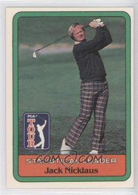 1981 Donruss Golf Stars - [Base] #JANI - Jack Nicklaus Statistical Leader