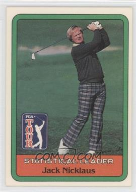 1981 Donruss Golf Stars - [Base] #JANI - Statistical Leader - Jack Nicklaus