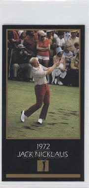 1993-98 Grand Slam Ventures Champions of Golf: The Masters Collection - [Base] #1972 - Jack Nicklaus