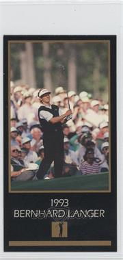 1993-98 Grand Slam Ventures Champions of Golf: The Masters Collection - [Base] #1993 - Bernhard Langer