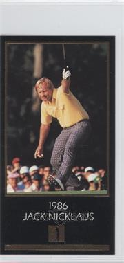 1993 Grand Slam Ventures Champions of Golf: The Masters Collection - Jack Nicklaus Gold #1986 - Jack Nicklaus