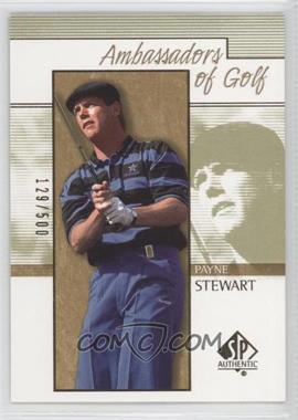 2001 SP Authentic - [Base] - Gold #133 - Payne Stewart /500