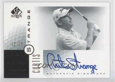 2001 SP Authentic - Sign of the Times - Gold #CS - Curtis Strange /25