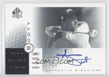 2001 SP Authentic - Sign of the Times #AS - Adam Scott