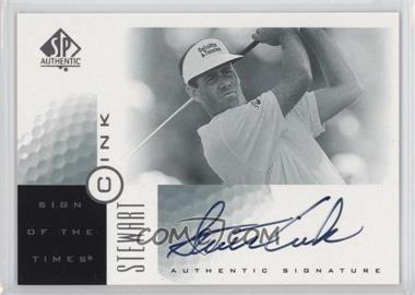 2001 SP Authentic - Sign of the Times #SC - Stewart Cink