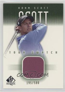 2001 SP Authentic - Tour Swatch - Green #AS-TS - Adam Scott /500