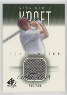 2001 SP Authentic - Tour Swatch - Green #GK-TS - Greg Kraft /500