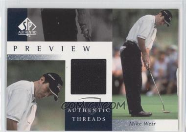 2001 SP Authentic Preview - Authentic Threads #MW-AT - Mike Weir