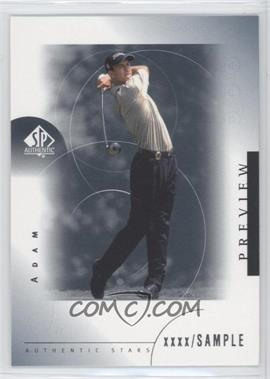 2001 SP Authentic Preview - [Base] #24 - Adam Scott