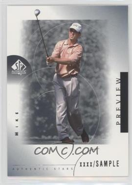 2001 SP Authentic Preview - [Base] #26 - Mike Weir
