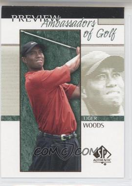 2001 SP Authentic Preview - [Base] #51 - Tiger Woods