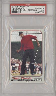2001 Sports Illustrated for Kids Tiger Woods Athlete of the Year - [Base] #N/A - Tiger Woods [PSA8NM‑MT(OC)]