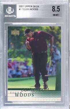 2001 Upper Deck - [Base] #1 - Tiger Woods [BGS8.5NM‑MT+]