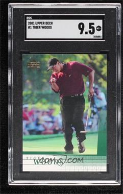 2001 Upper Deck - [Base] #1 - Tiger Woods [SGC9.5Mint+]