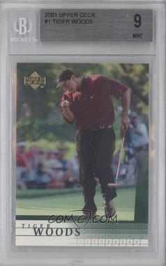 2001 Upper Deck - [Base] #1 - Tiger Woods [BGS 9 MINT]