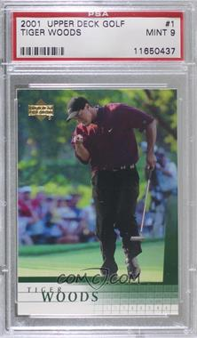 2001 Upper Deck - [Base] #1 - Tiger Woods [PSA 9 MINT]