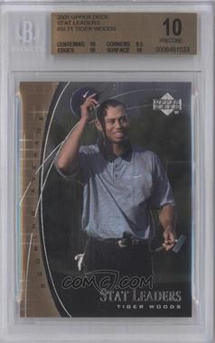 2001 Upper Deck - Stat Leaders #SL11 - Tiger Woods [BGS 10]