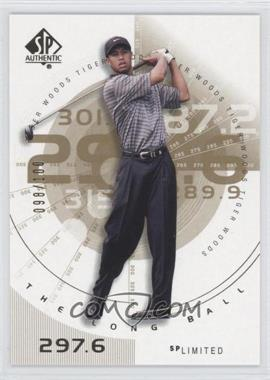 2002 SP Authentic - [Base] - Limited #76SPA - Tiger Woods /100