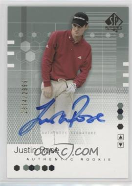 2002 SP Authentic - [Base] #95 - Justin Rose /2999