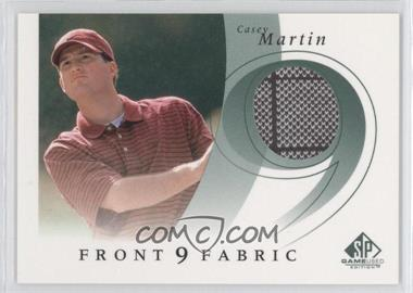 2002 SP Game Used Edition - Front 9 Fabric #F9S-MA - Casey Martin