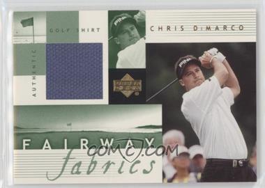 2002 Upper Deck - Fairway Fabrics #CD-FF - Chris DiMarco