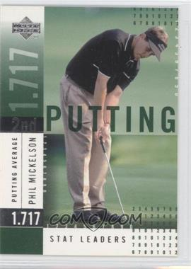 2002 Upper Deck - Stat Leaders #SL17 - Phil Mickelson
