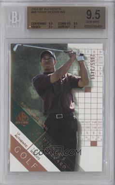 2003 SP Authentic - [Base] #68 - Tiger Woods /3499 [BGS9.5GEMMINT]