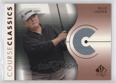 2003 SP Authentic - Course Classics Golf Shirts #CC-BC - Billy Casper