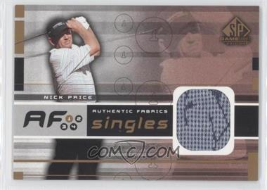 2003 SP Game Used Edition - Authentic Fabrics Singles #AF-NP - Nick Price