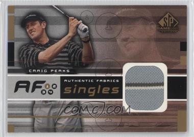 2003 SP Game Used Edition - Authentic Fabrics Singles #AF-PE - Craig Perks