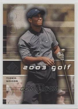 2003 SP Game Used Edition - [Base] #1 - Tiger Woods