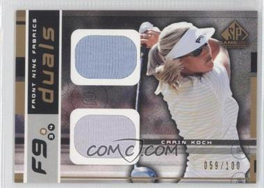 2003 SP Game Used Edition - Front Nine Fabrics - Duals #F9-CK - Carin Koch /100