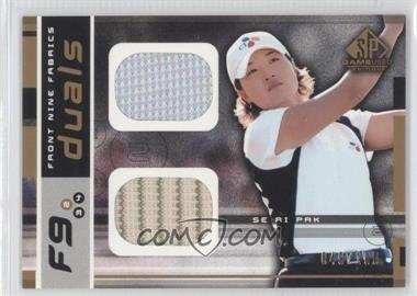 2003 SP Game Used Edition - Front Nine Fabrics - Duals #F9-SP - Se Ri Pak /100