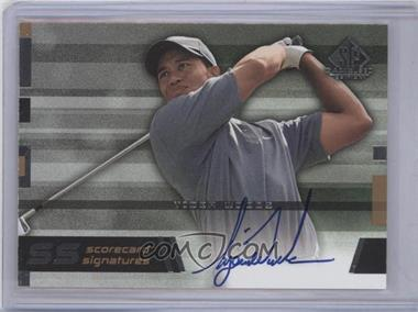 2003 SP Game Used Edition - Scorecard Signatures #SS-TW9 - Tiger Woods