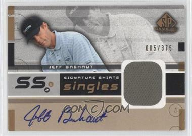 2003 SP Game Used Edition - Signature Shirts Singles #F9S-JB - Jeff Brehaut /375