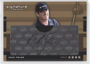 2003 SP Game Used Edition - Signature Swings #SW-NF1 - Gold 4 - Nick Faldo