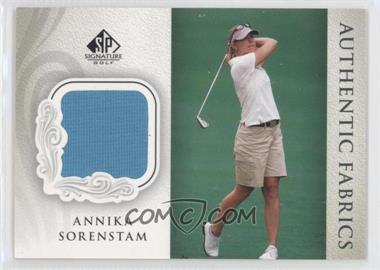 2004 SP Signature - Authentic Fabrics #AF-AS - Annika Sorenstam