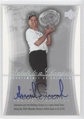 2004 SP Signature - Endorsements of Excellence #A27 - Annika Sorenstam