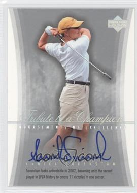 2004 SP Signature - Endorsements of Excellence #A30 - Annika Sorenstam