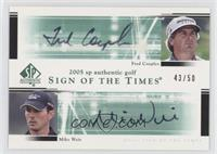 Fred Couples, Mike Weir #/50