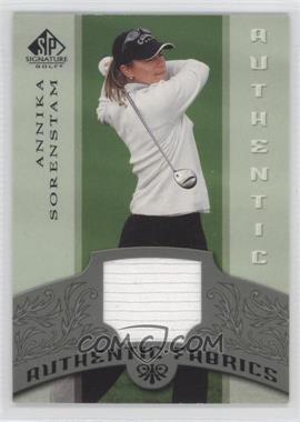 2005 SP Signature - Authentic Fabrics #AF-AS - Annika Sorenstam