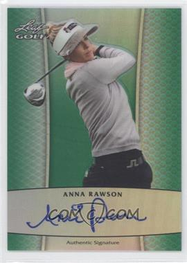 2012 Leaf Metal - Autographs - Green Prismatic #BA-1 - Anna Rawson /25