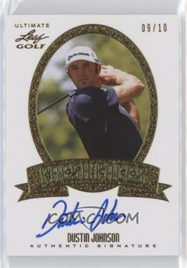 2012 Leaf Ultimate - Fresh Faces - Gold #FF-DJ1 - Dustin Johnson /10