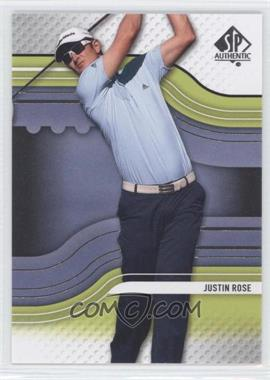 2012 SP Authentic - [Base] #31 - Justin Rose